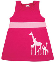 Nohi Kids:  Giraffe Dress in Raspberry