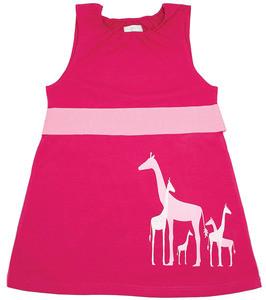 Nohi Kids:  Giraffe Dress in Raspberry