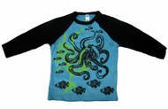 WugBug:  Blue Octopus Organic LS Tee
