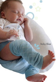 BabyLegs:  Baby Blue Newborn Leg Warmers, Model