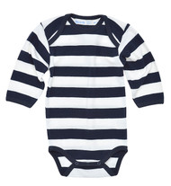 Under the Nile:  Organic Rugby Navy Bodysuit