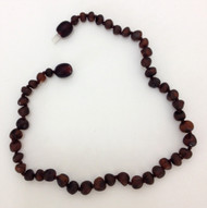 Healing Hazel:  100% Baltic Raw Amber, in Cherry