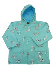 Kittens Raincoat from Foxfire.  Find the bows, butterflies and mice!