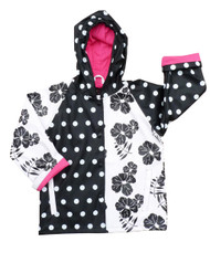 Black and White Delight Raincoat from Foxfire for Kids