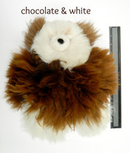 "Chocolate & White 12"" Alpaca Teddy Bear"