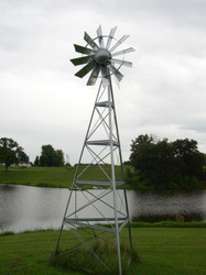OWS Galvanized 20ft, 3 legged Windmill