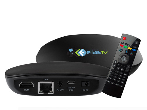 The Ellas TV T-603 is a very powerful Android based Quad Core Set-top box. It provides a superior TV experience with super fast channel zapping as well as the best Apps to complete your service.