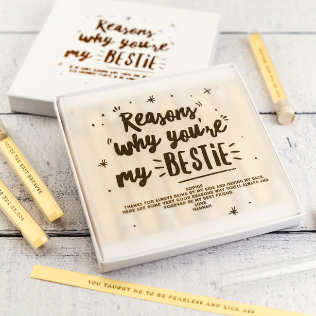 Personalised Reasons Why You're my Bestie Keepsake