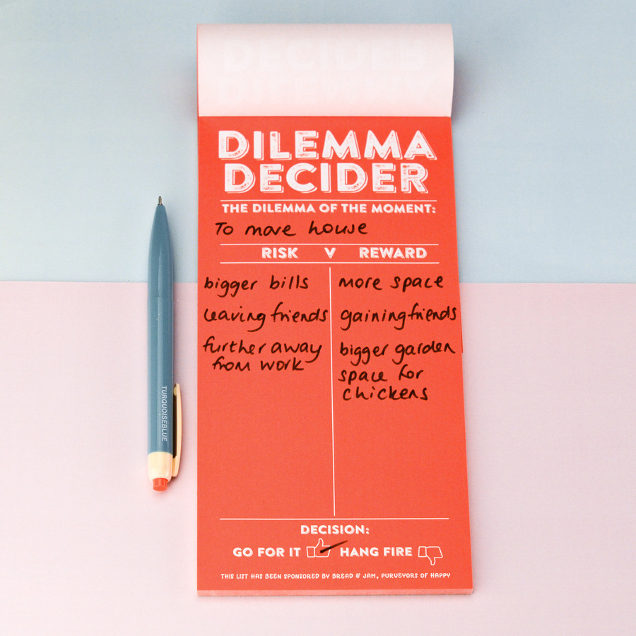 Dilemma Decider Note Pad