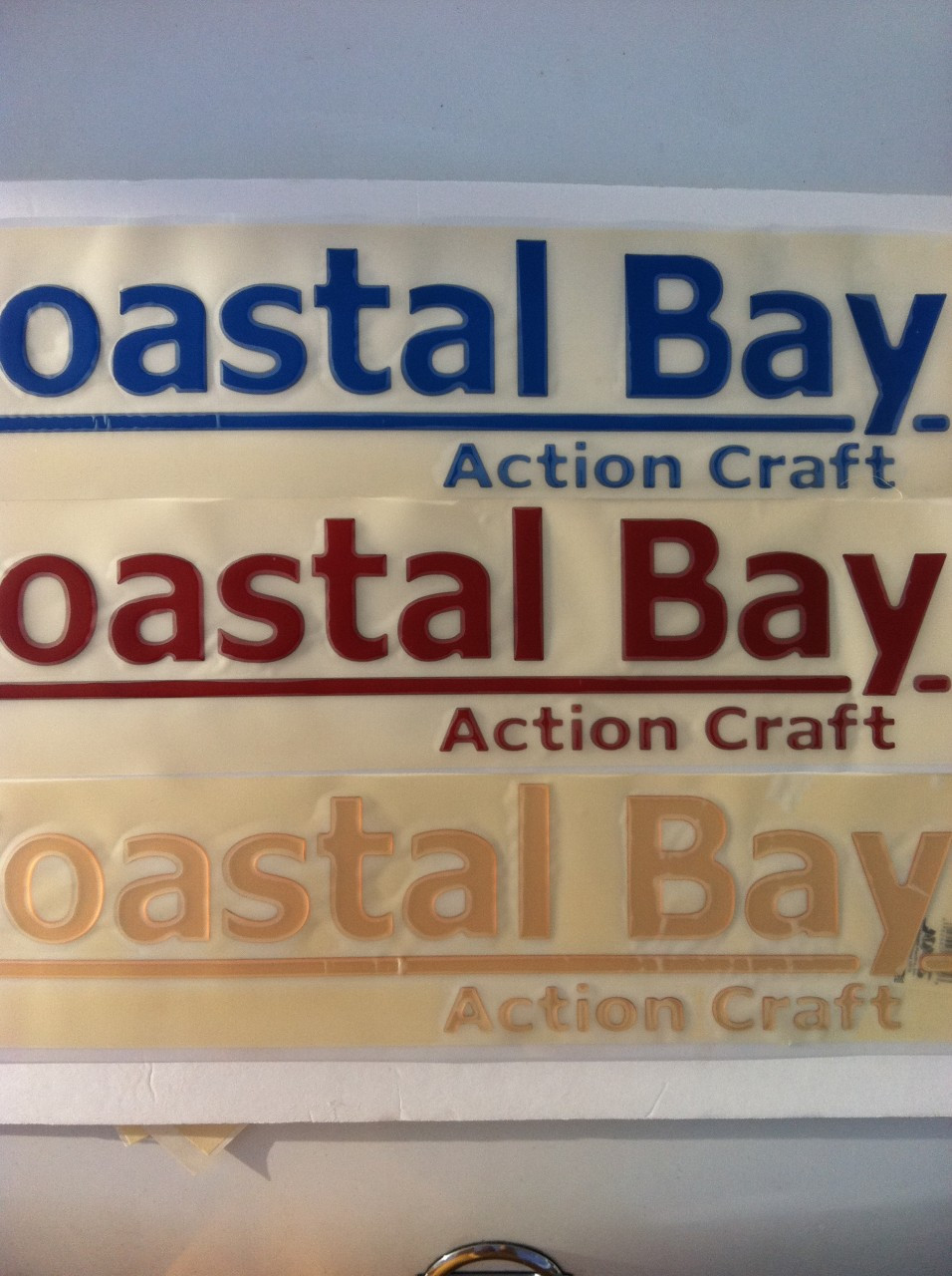 Coastal bay raised decal pair action craft boat parts for Action craft boat parts