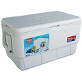 Igloo® White Marine Ice Chest 72 qt  Lid Supports up to 300 lbs Ultratherm Insulation UV Inhibitors  Handles - (2) Easy-carry swing-handles with tie down loops Insulation - Body