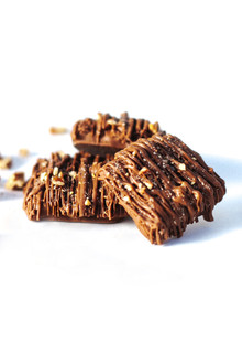 ALMOND TOFFEE made with Fair Trade Belgian Chocolate 6 oz. Box (Naturally Gluten Free)