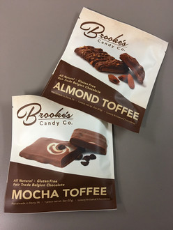 ALMOND TOFFEE made with Fair Trade Belgian Chocolate 2 oz. Bar (Naturally Gluten Free)