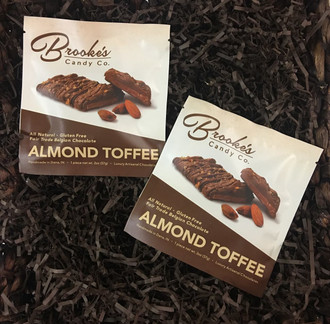 Almond TOFFEE  (one 2 oz. bag)