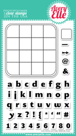 "Our Fun With Letters 4"" x 6"" clear photopolymer stamp set is sure to be a staple in any stamper's collection.  The stamps in this set contain a base that make them easy to line up and make custom words when stamped.  Stamp the letters in the game board provided to create fun messages."