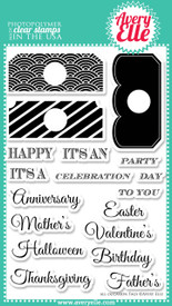 "Our All Occasion Tags 4"" x 6"" clear photopolymer stamp set is a must have in any stampers collection.  Stamp the tag toppers to create the perfect gift tags or accents on a card or scrapbook page.  Stamp the sentiment combinations to create the perfect invitation or sentiment."