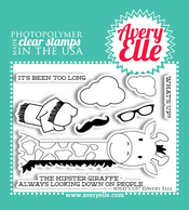 """Our 4"""" x 3"""" What's Up? clear photopolymer stamp set may be small in size, but has so many possibilities.  Combine the giraffe and accessories included in this set to create a fun and """"hip"""" greeting."""