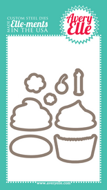 Our Cupcakes Elle-ments Custom Steel Die are exclusive to Avery Elle.  These premium steel dies coordinate with our Cupcakes clear photopolymer stamp set and are proudly made in the USA.