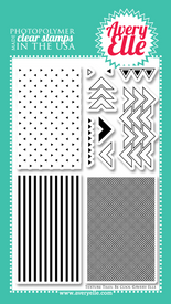 "Our 4"" x 6"" Texture Tiles: Be Cool clear photopolymer stamp set (designed by Nina Yang) has so many possibilites .  Stamp the textures and patterns onto a tag, card, journal card to create your own custom background.  ""Kiss"" your solid image stamps with these stamps to create even more depth and interest on your projects."