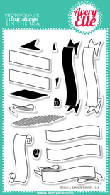 "4"" x 6"" Build A Banner clear stamps"