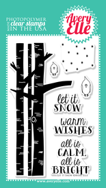 "Use our 4"" x 6"" Let It Snow clear stamp set to stamp a cute winter scene. This cute stamp set is perfect for the winter holiday season and is one that you will reach for over and over."