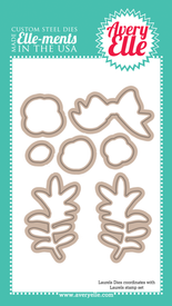 Our Laurels Elle-ments Custom Steel dies are exclusive to Avery Elle.  These premium steel dies coordinate with our Laurels clear stamp set and are proudly made in the USA.