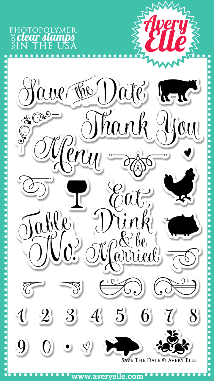 Save The Date Clear Stamps