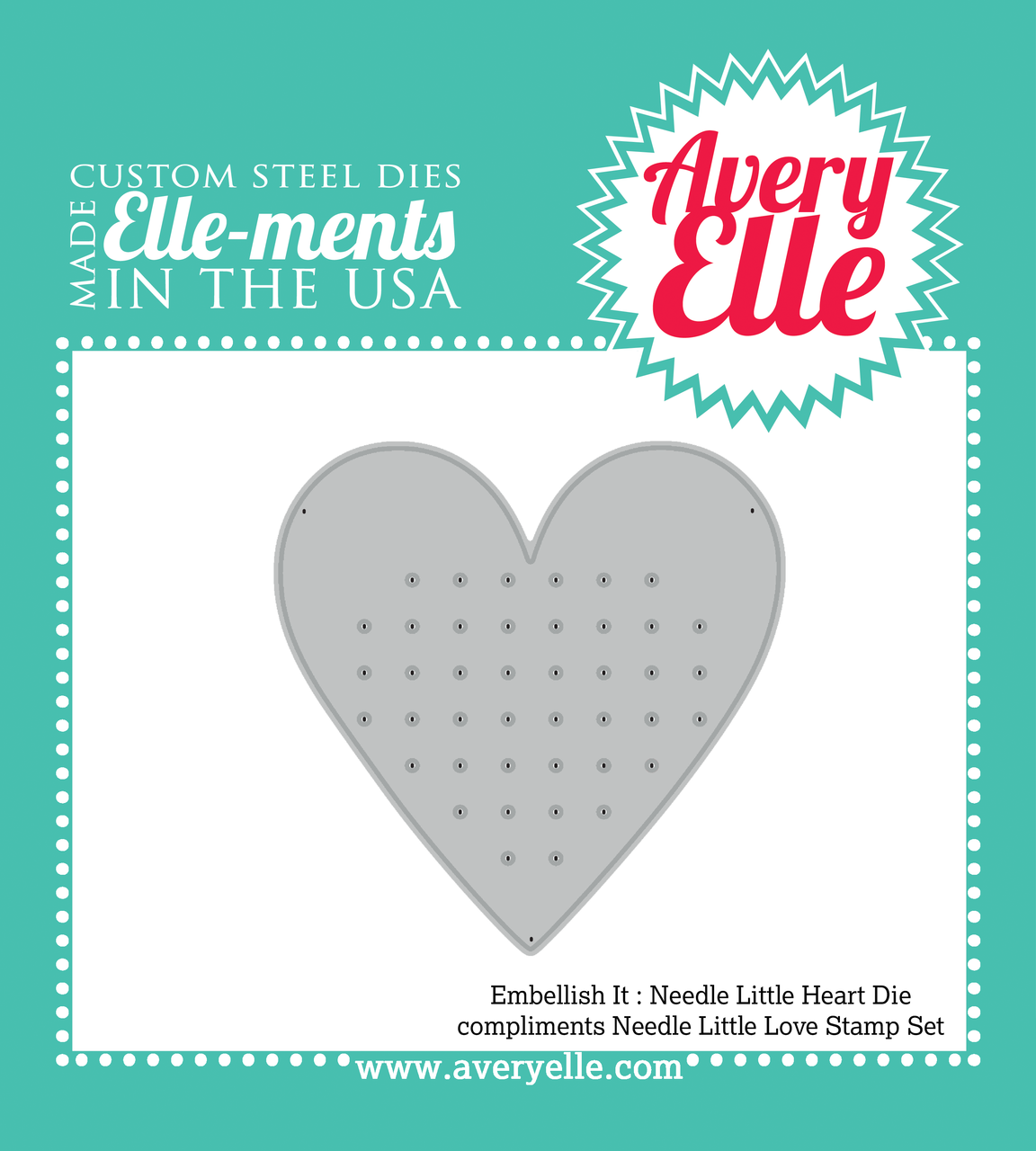 Embellish It Needle Little Love Elle-ments Die