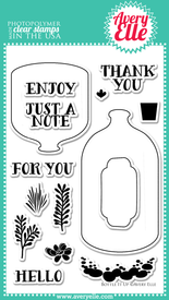 "Bottle It Up 4"" x 6"" clear photopolymer stamp set"
