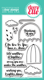 Avery Elle Weather It Clear Stamps