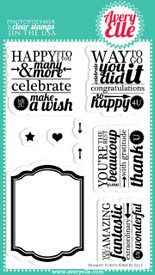 We think you will love our Framed Fonts Clear Photopolymer Stamps.  The clean and simple frame stamp plays well against the font combinations in the sentiments.