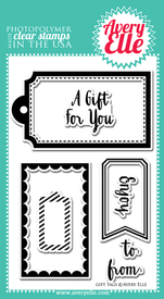 Avery Elle Gift Tags Clear Stamp Set