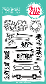 Avery Elle Surf's Up clear stamps