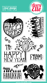 Seasonal Sentiments Clear Stamps