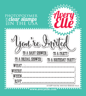 You're Invited Clear Stamps
