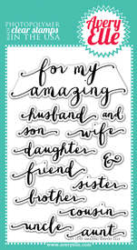 "Clear Stamps - 4"" x 6"" Amazing"