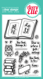 Clear Stamps - This Book by Avery Elle Inc.