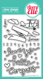 Clear Stamps - Fly By by Avery Elle Inc.