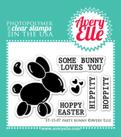 Clear Stamps - Party Bunny by Avery Elle Inc.