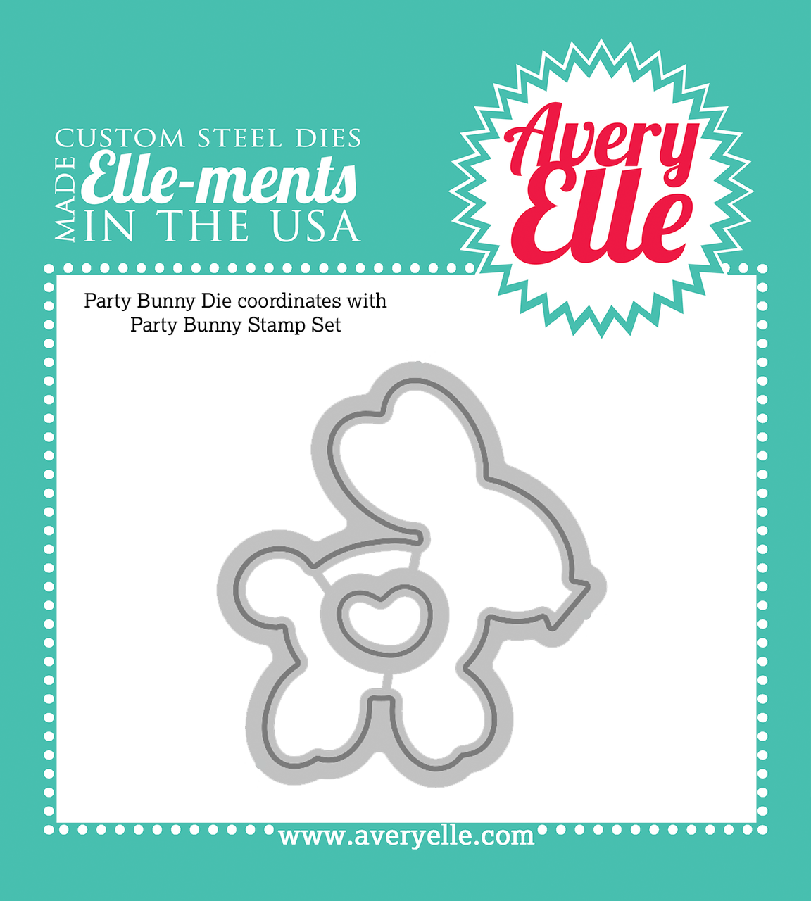 Custom Steel Dies - Party Bunny by Avery Elle Inc.