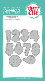 Custom Steel Dies - Numbered Balloons by Avery Elle Inc.
