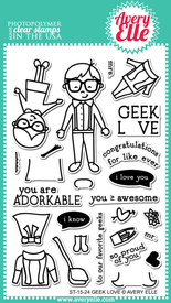 ST-15-24 Geek Love clear stamps