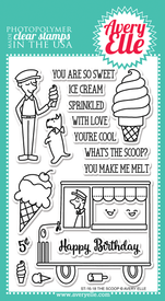 Avery Elle The Scoop Clear Stamps