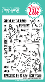 Avery Elle Band Camp Clear Stamps