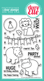 Avery Elle Wild Birthday Clear Stamps
