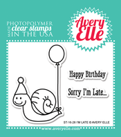 Avery Elle I'm Late Clear Stamps