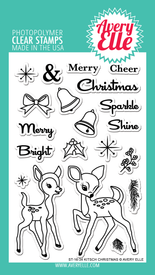 Avery Elle Kitsch Christmas Clear Stamps