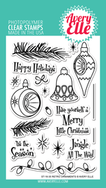 Avery Elle Retro Ornaments Clear Stamps