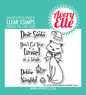 Avery Elle Dear Santa Clear Stamps