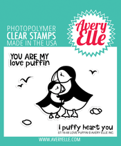 Avery Elle Love Puffin Clear Stamps